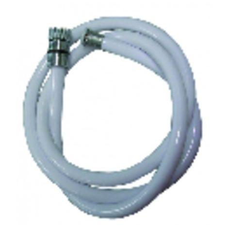 Flexible and hand shower - White shower flexible length 1500mm