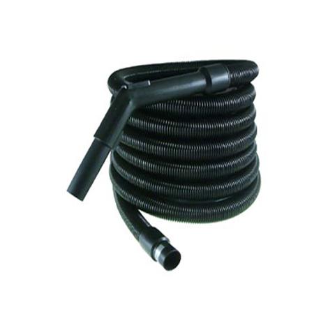 Flexible aspiration centralisée garage noir de 10 mètres