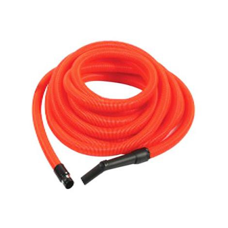 Flexible aspiration centralisée garage orange de 8 m