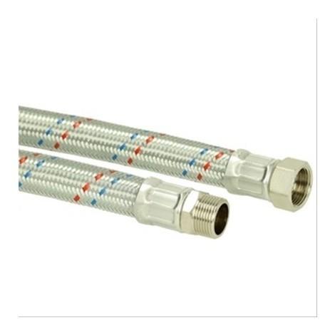 Flexible chauffage droit MF1''1/4 inox Diam32mm L=1000mm