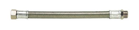 Flexible chauffage tresse inox m/âle-femelle 33-42 50cm