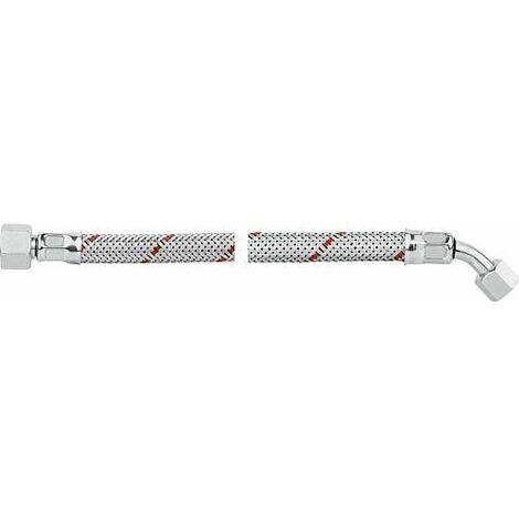 """Flexible de bruleur fioul avec ecrou-raccord 3/8""""& coude 45° SR 8 1250 mm pour Weishaupt WL2/3, pour Vies"""
