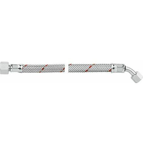 Flexible de bruleur fioul avec ecrou-raccord 3/8 et coude 45° SR 8 LL R 750mm Weishaupt WL 2, WL 3, Viessmann