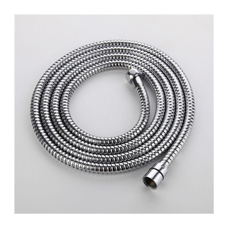 Tuyau de douche en acier inoxydable noir raccords de pommeau de douche /à main tuyaux accessoires de salle de bain tuyau en caoutchouc tuyau de plomberie Flexible-1M