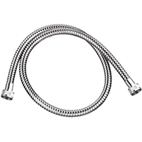 Flexible de douche en inox chromé, collection Essential - flexible métal shiny twist 1 m 75 - Wirquin - 60720800