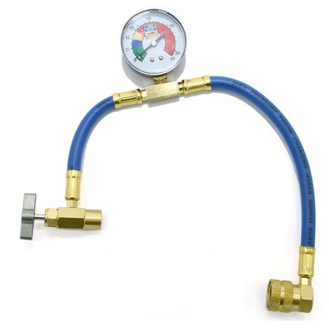 Flexible de recharge pour R134a avec manometre et raccords laiton