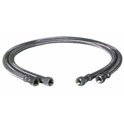 Flexible fioul F1/2 x F1/2 droit longueur 1000mm - WEISHAUPT : 491019