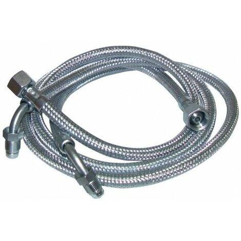 """Flexible fioul - F3/8""""x M1/4"""" à bague coudé 90° lg 900mm (2 pcs) - F3/8""""x M1/4"""" à bague coudé 90° lg 900mm (2 pcs)"""