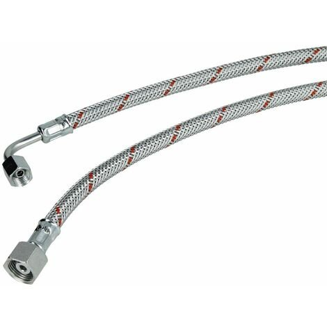 Flexible fioul M12 x 1,5 coude x écrou à chapeau 3/8'' 1000 mm