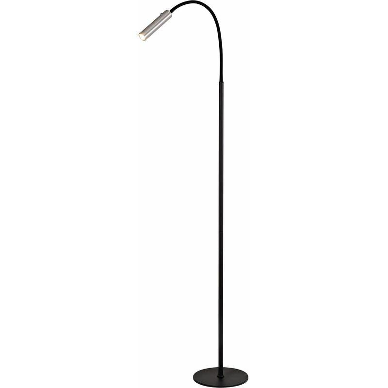 Image of 13-luminaire Center - Flexible Floor Lamp Esther 1 Bulb Black 110 Cm
