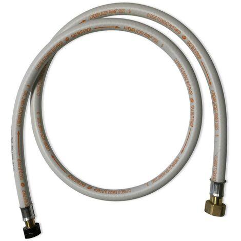Flexible gaz NF, tuyau embouts mécaniques, élastomère renforcé, G1/2 - M20x1,5, joints inclus, propane/butane