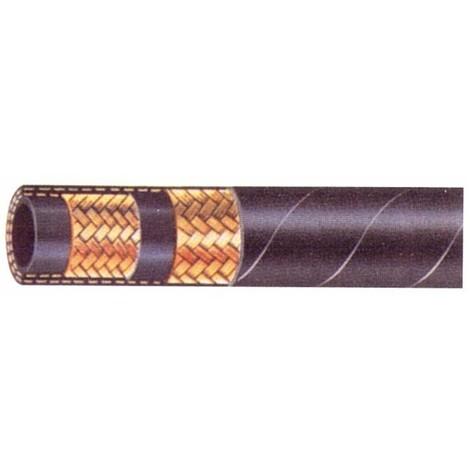 Flexible hydraulique 2 tresses 1/4' DIN 2SN 400 bars (Lot de 50 mètres)