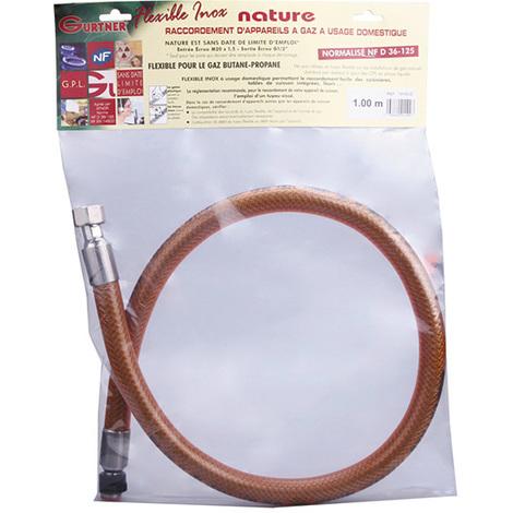 Flexible inox butane propane 15x21 Femelle - 20x150 Femelle