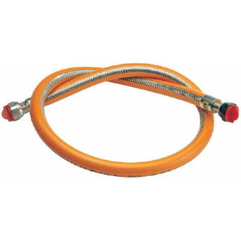 Flexible inox Butane / Propane - Durée de vie illimitée - Longueur : 1,00 m