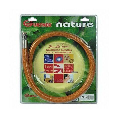 Flexible INOX femelle - Gaz naturel - Ecrou 20x150 - 2m