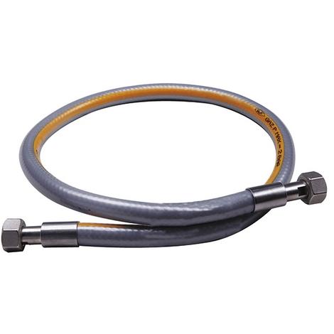 """Flexible inox haute pression 0,5m NF - écrou G 1/2"""" - max 2 bar"""
