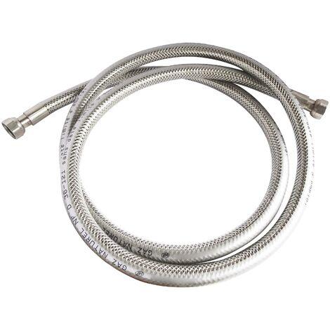 Flexible inox pour GAZ NATUREL- Longueur : 2 mètres - Durée illimitée