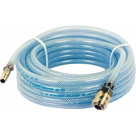 Flexible pneumatique avec raccords (Accouplement et douille a enficher) L 5 m/9x13mm/20 bar - bleu