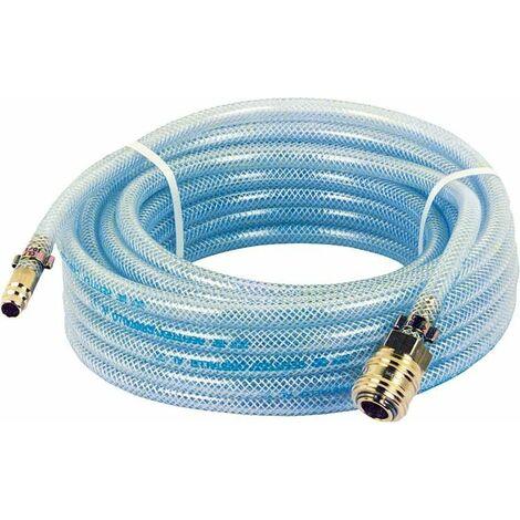 Flexible pneumatique avec raccords (Accouplement et douille a enficher) L10 m/6x10mm/20 bars