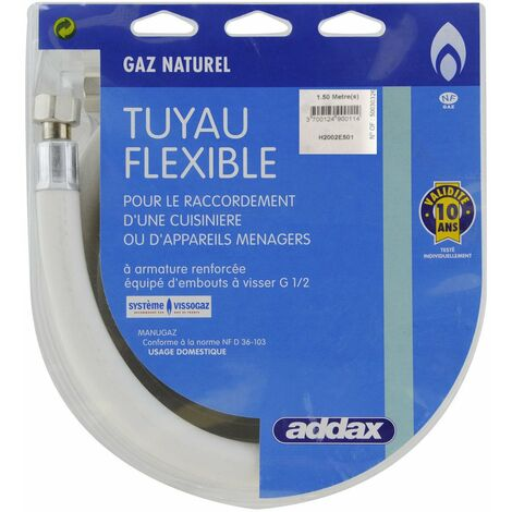 Flexible Souple Gaz Naturel 1m50 - ADDAX