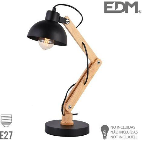 Flexo Arquitecto E27 Negro Edm