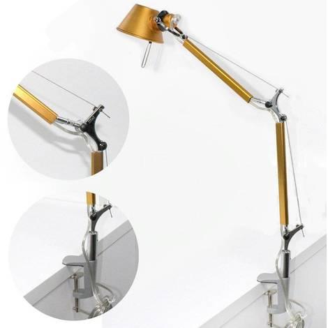 Flexo de dos brazos naranja metalizado con pinza