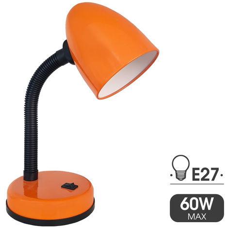 Flexo De Sobremesa Modelo Amsterdam E27 40W Naranja - NEOFERR..