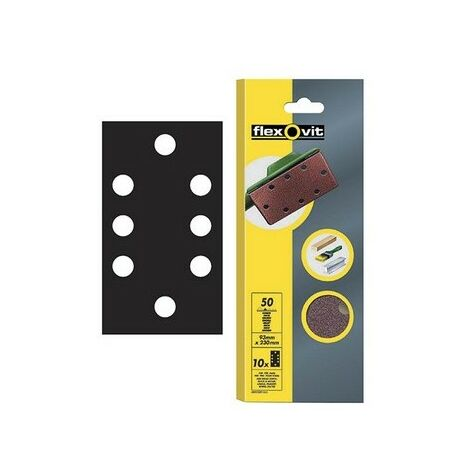 "main image of ""Flexovit 63642526341 1/3 Sanding Sheets 93 x 230mm Perforated Fine 120g Pack of 10"""