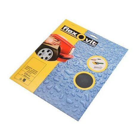 "main image of ""Flexovit 63642526491 Waterproof Sanding Sheets 230 x 280mm Assorted 3"""