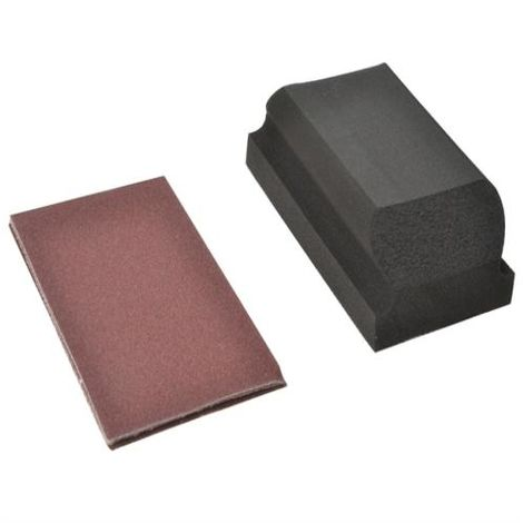 Flexovit Hook & Loop Sanding Block Kit 3 Shee