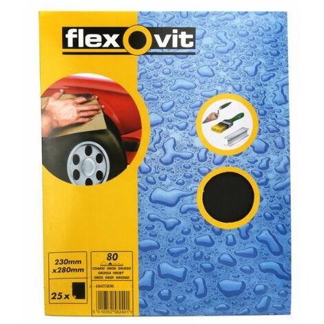 """main image of """"FLEXOVIT Wet & Dry Paper - P80 - Pack Of 25 - 66254471692"""""""