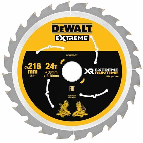 FlexVolt XR Circular Saw Blades, 216mm