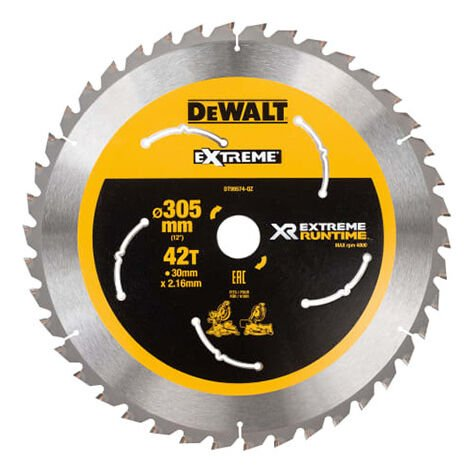 FlexVolt XR Mitre Saw Blade 305 x 30mm x 42T