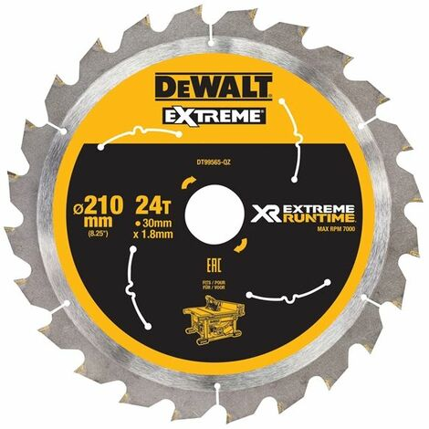 FlexVolt XR Table Saw Blade 210 x 30mm x 24T (DEWDT99565QZ)