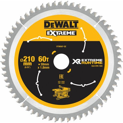 FlexVolt XR Table Saw Blades 210mm