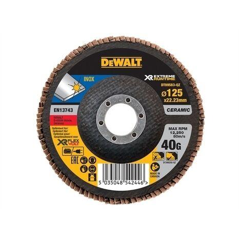DeWalt DT99583-QZ FlexVolt Xtreme Runtime Flap Disc 125mm 40G