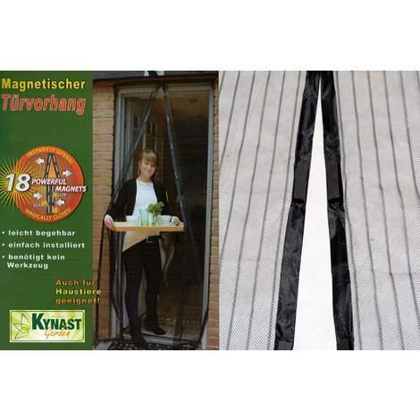 Fliegengitter Türvorhang Magnetic 210 x 100 cm schwarz