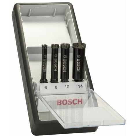 Fliesenbohrer 6-14mm Diamantnassbohrer-Set RobustLine 4 tlg.