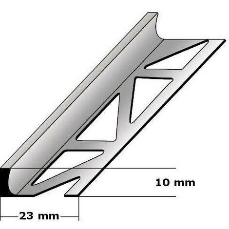 """Fliesenprofil """"Beldert"""" Fliesenabschlussprofil / Trennschiene für Fliesenabschlüsse, Höhe: 2 - 30 mm, Breite: 23 mm, aus Edelstahl"""