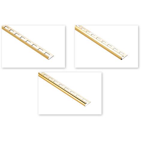 Fliesenschienen | Edelstahl - gold glänzend | große Auswahl | 2 Meter