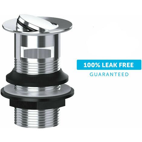 Flip Top Swivel Slotted Basin Sink Waste Chrome Leak Free Solid Brass Spin Flow