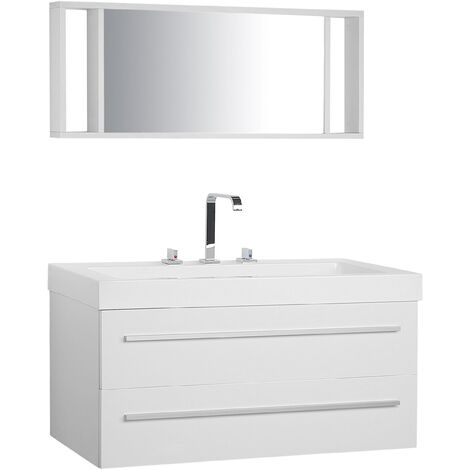 Floating Bathroom Vanity Set White BARCELONA