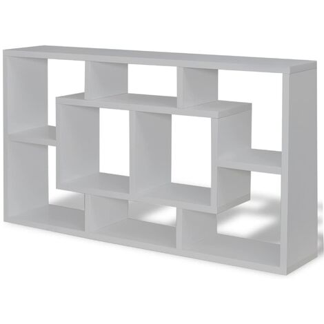 Floating Book Storage Bookshelf | M&W Light Grey - Light Grey