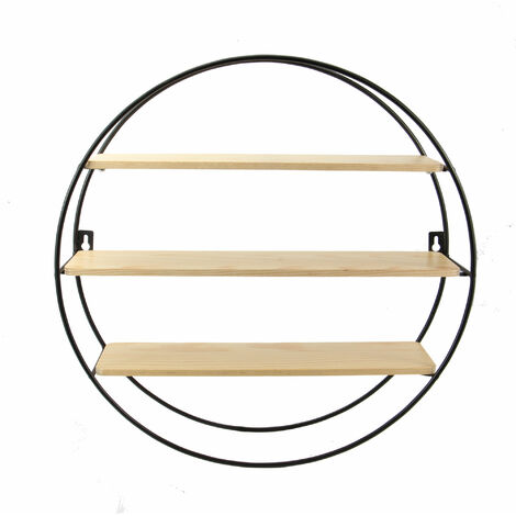 Floating Circle Shelf | M&W 3 Tier