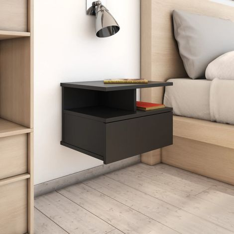 Floating Nightstands 2 pcs Black 40x31x27cm Chipboard