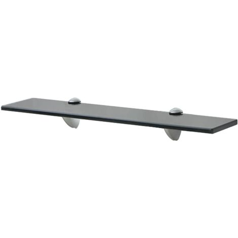 Floating Shelf Glass 50x20 cm 8 mm - Black