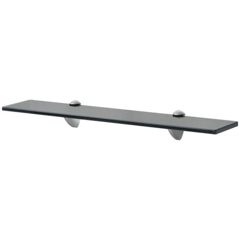 Floating Shelf Glass 60x10 cm 8 mm - Black