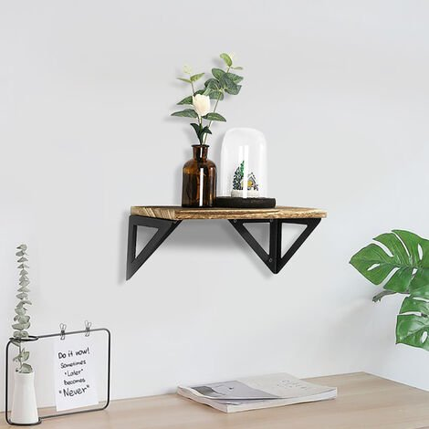 "main image of ""Floating Shelf Shelves Display Wall Mounted Wooden Bookcase Unit Rack Storage"""
