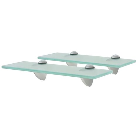 Floating Shelves 2 pcs Glass 30x10 cm 8 mm - Transparent