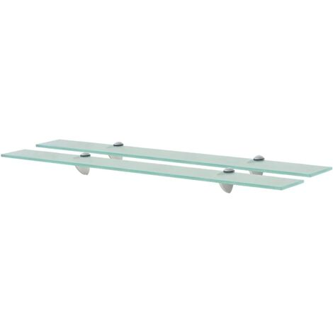 Floating Shelves 2 pcs Glass 80x20 cm 8 mm